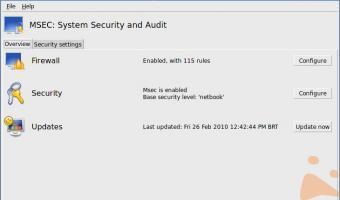 Nuova schermata principale Msec 2010.1