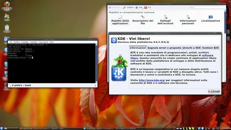 La mia Mageia KDE 4.6.2 con Kernel 2.6.38.2-4 mga